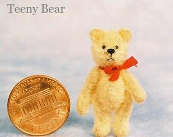 Teeny Bear Miniature Teddy Bear Kit - Pattern - by Emily Farmer