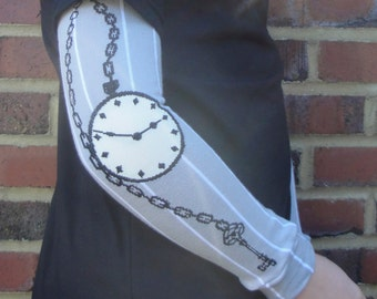 SALE - Baby Leg Warmers - Arm or Leg Warmers for Toddler, Child, Tween - Steampunk Pocket watch Design - Great Gift for Boys or Girls
