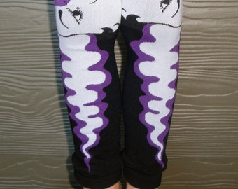 Halloween Costume Leg and Arm Warmers - Bride of Frankenstein - Leggings for Infant, Baby, Toddler, Kid, Tween - Boy or Girl - Fun Gift