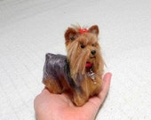 Personalized Gift / Miniature Poseable Art Doll / Custom Pet Portrait  / handmade One of a Kind Sculpture / example Yorkie