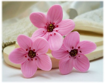 Pink Cherry Blossom Hair Pins - Sakura Hair Flowers