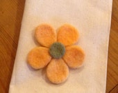 Peachy Needle Felted Brooch
