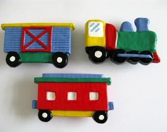 Large Drawer Pulls - Train, Boxcar, Caboose