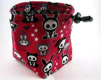 Red Skelanimals Dice Bag