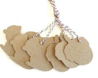 Squirrels and Acorns Tags - Set of 6
