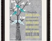 Framed Picture, Framed Artwork, Framed Family Tree, Family Tree Art, Family Tree Poster, Framed Family Tree Artwork, Mother's Day Gift