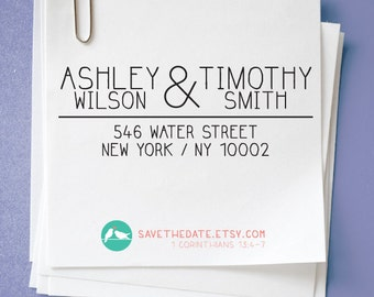 CUSTOM ADDRESS STAMP with proof from usa, Eco Friendly Self-Inking stamp, rsvp address stamp, custom stamp, custom address stamp, stamper109