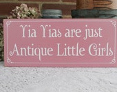 Greek Grandmother Wood Sign Yia Yias Are Just Antique Little Girls Wall Decor Painted
