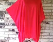 Plus Size Lightweight Beaded Rayon Tunic