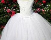 White Lace Flower Girl Dr...