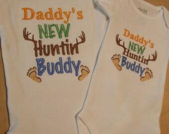 Daddy's NEW Huntin Buddy Onesie Bodysuit (Hunting)