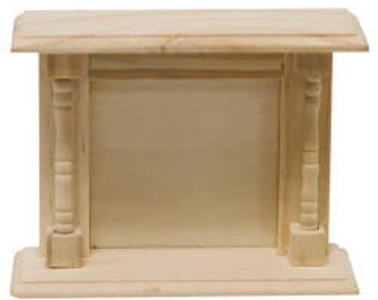 Miniature Unfinished Wood Fireplace Hearth