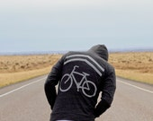 Mens sweatshirt | unisex hoodie - Share The Road - bike sharrows print on lightweight jersey blend hoodie - CLOSEOUT