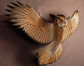 Owl woodcarving by Jason Tennant, Silent Flight, Small