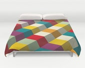 Colorful Duvet Cover, Designer duvet cover, Modern duvet cover, original bedding, king size duvet cover, queen duvet cover