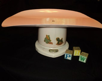 Vintage 1950's Counselor - Baby Girl Pink - Antique Baby Scale
