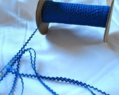"Vintage Rickrack Sewing Trim, bright blue cotton baby rickrack  1/4"" wide - 5 yards - sewing trim supplies"