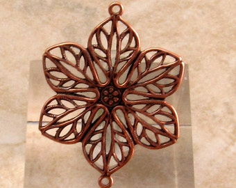 Filigree Connector, Antique Copper, Tabitha, Trinity Brass, 2 Pieces, AC155