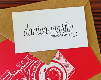 Photography Stamp - Script Style Font - Danica Martin Design