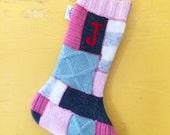 Christmas Stocking. CUSTOM stockings. personalized christmas stockings. repurposed from sweaters. choose your quantity.