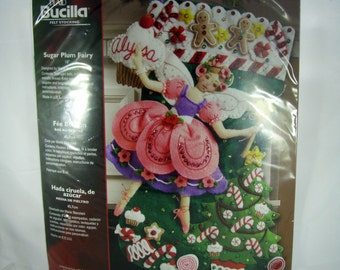 Bucilla Felt Christmas Stocking Kit - Sugar Plum Fairy - Unopened Package
