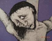 Vintage 1980's Art Print, Disappearing Cross 10/11 Signed by Artist, Jesus Christ, Religious  Artwork Christian Christianity Holy God, Faith