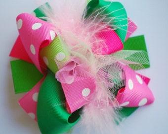 boutique MINI mod LITTLE SPROUT hair bow clip