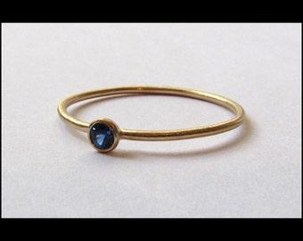Blue Sapphire 14k Gold Ring