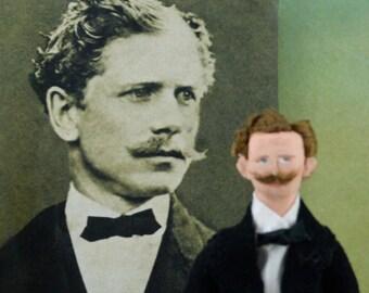Ambrose Bierce Doll Miniature Author and Writer