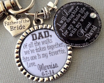 FATHER of the BRIDE PERSONALIZED gift- father of groom gift, of all the walks, thank you gift, love your daughter whole heart whole life