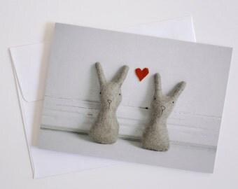 Bunny Love - Greeting Card