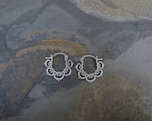 Mini Ornate Tribal Hoops