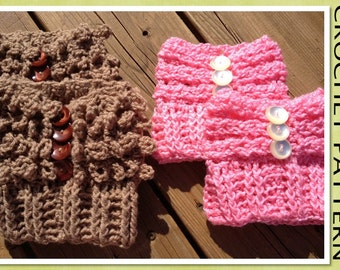 PDF Crochet Pattern - The Braided/Loopy Boot Cuffs