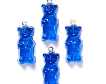 Blue Gummi Bear Charms Drops chr152A