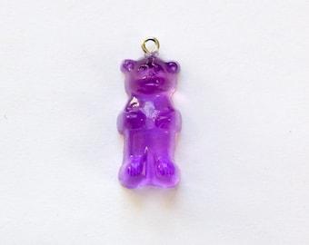 Purple Gummi Bear Charm Drop (1) chr153M