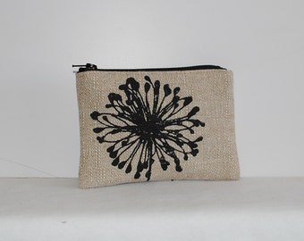 Little Zipper Pouch - Dandelion Black Denton