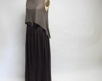 CUSTOM wine cotton jersey Maxi Skirt YOUR SIZE