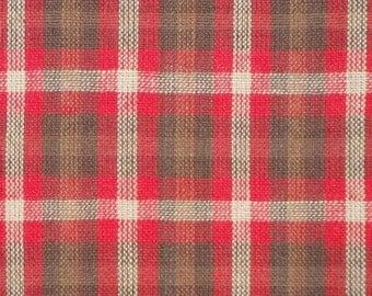Homespun Fabric | Cotton Fabric | Plaid Fabric | Rustic Fabric | Farmhouse Fabric | Craft Fabric | Primitive Fabric |  1 Yard