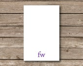 Personalized Note pads monogrammed large lowercase initial note pad set of 2 size 5.5 x 8.5