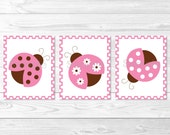 Pink Ladybug Nursery Wall...