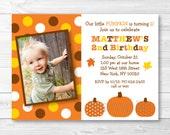 Cute Pumpkin Birthday Inv...