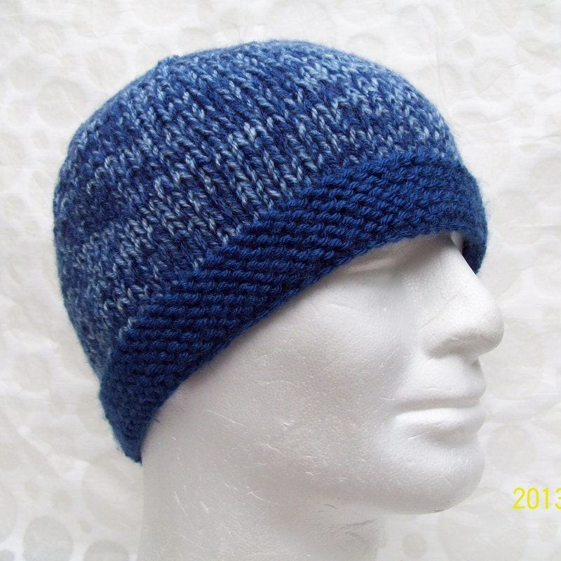KNITTING PATTERN/TED Mans Knit Hat Pattern/ Easy Beanie