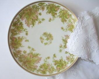 Vintage Haviland Limoges French Peach Green Pretty Plate