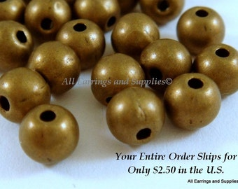 50 - 5mm Antique Bronze  Beads Iron 5mm LF/NF/CF - 50 pc - M7013-AB5mm50