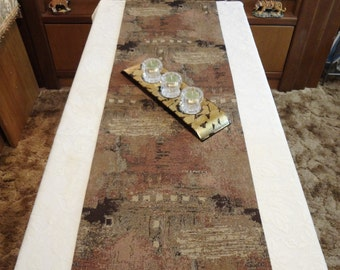 """TABLE RUNNER - Earth  Tone Abstract  Look - Table Decor - 74"""" x 15"""" - Item TR312009"""