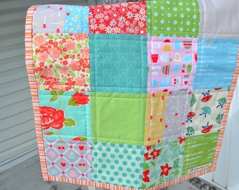 Patchwork Table Runner Vintage Style Table Mat Vintage Style Dresser Mat Table Topper Bake Shop Fabric Cottage Style Cottage Quilt