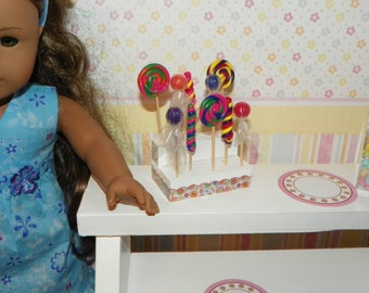 """18"""" Doll Lollipops and display stand - bake shop addition 1:3 scale"""