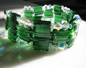 Emerald Isle Crystal Holiday Bracelet