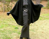 Black Cape,  Shawl, Wrap, or Poncho in Anti Pill Fleece--One Size Fits Most