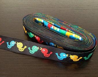 16mm x 1yard (bird) woven ribbon (S709)